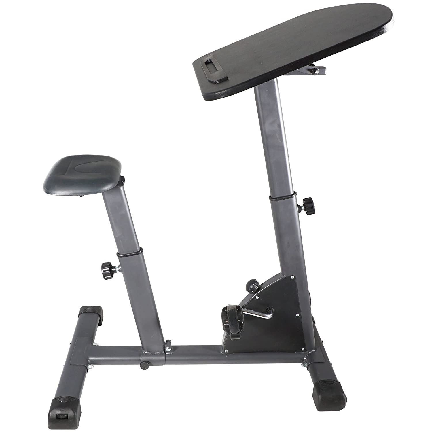 amazoncom titan fitness cycling adjustable standing exercise desk sit stand up black top sports u0026 outdoors