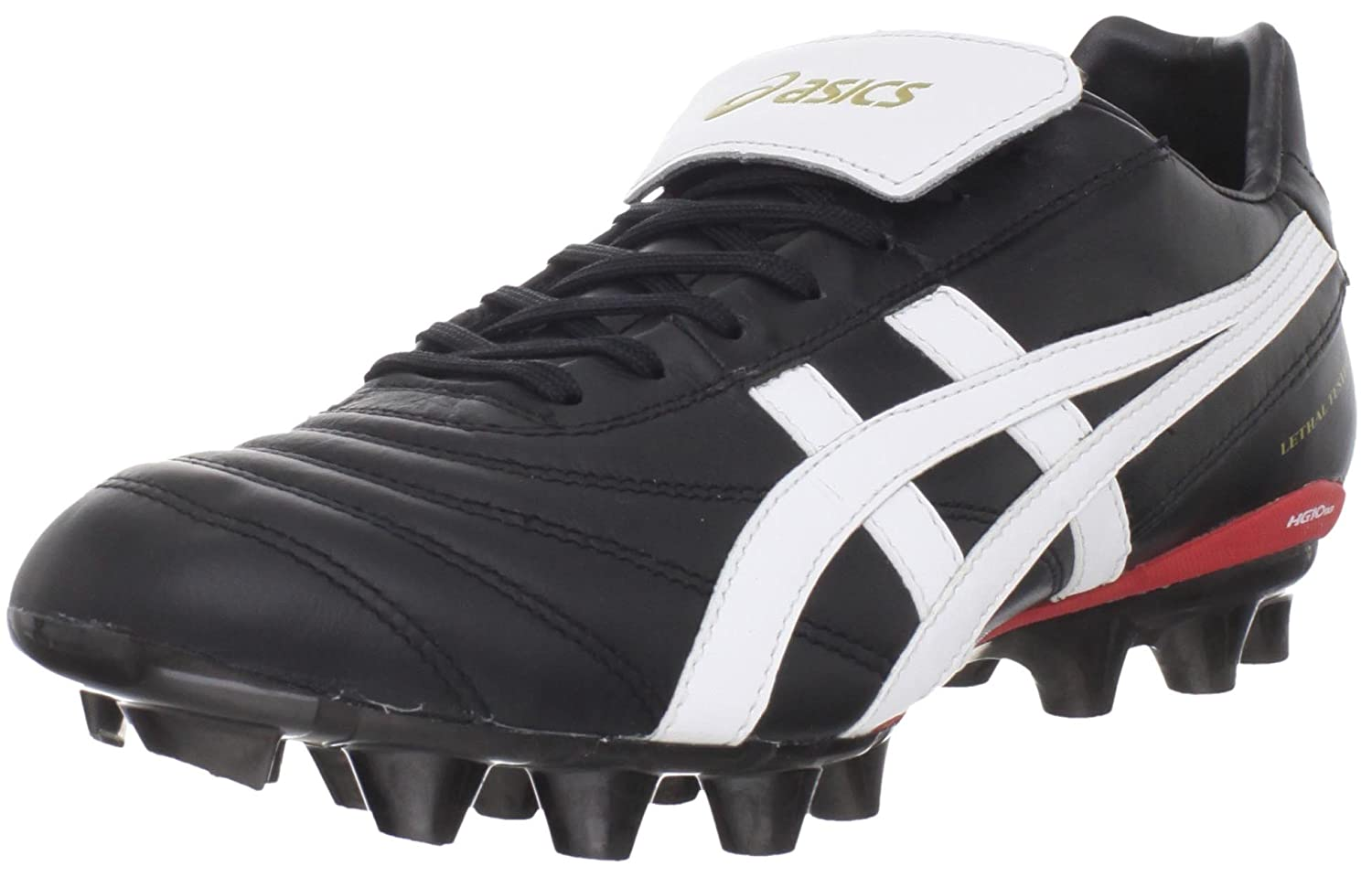 ASICS Men's Lethal Testimonial It Soccer Shoe B0053YOTD2 7 D(M) US|Black/White