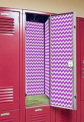 Back to School Magnetic Locker Wallpaper - Chevron (Light Purple)
