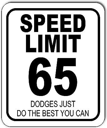 Amazon.com: Speed Limit 65 - Cartel de metal para exteriores ...