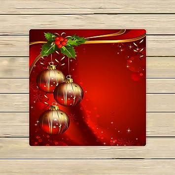 Custom feliz Navidad fondo rojo toallas de Festival bolas de baño, playa piscina Sprot viaje toalla de mano Spa: Amazon.es: Hogar