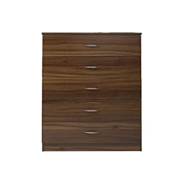 Laura James Hoch Kommode 5 Schublade Schlafzimmer Mobel Walnut