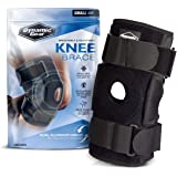 Dynamic Gear Open Patella Knee Brace, Dual Aluminum Stability Hinges - Padded Neoprene Adjustable Compression Support for Men