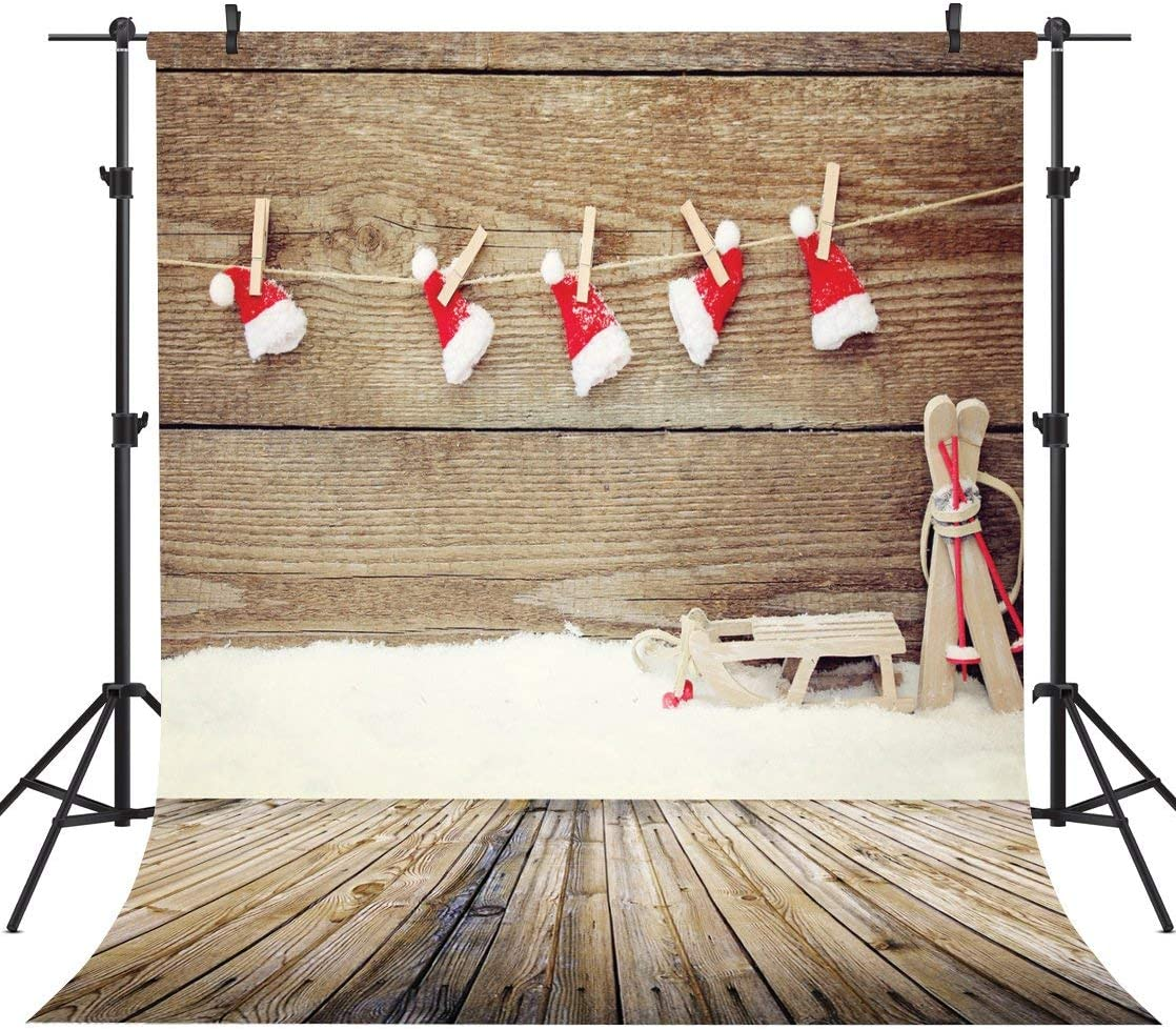 GoHeBe Christmas Theme 10X10FT Seamless Vinyl Photography Backdrop Photo Background Studio Prop GZ01A