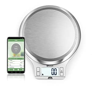 NUTRI FIT Smart Digital Food Scale Accurate Nutrition Kitchen Bluetooth Scale with App Weighing in Grams and Ounces for Weight Loss Baking Cooking Keto Dieting Meal Prep Tracking Calories Intake