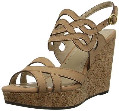 Adrienne Vittadini Footwear Women's Camber Wedge Sandal, Terracotta, ...