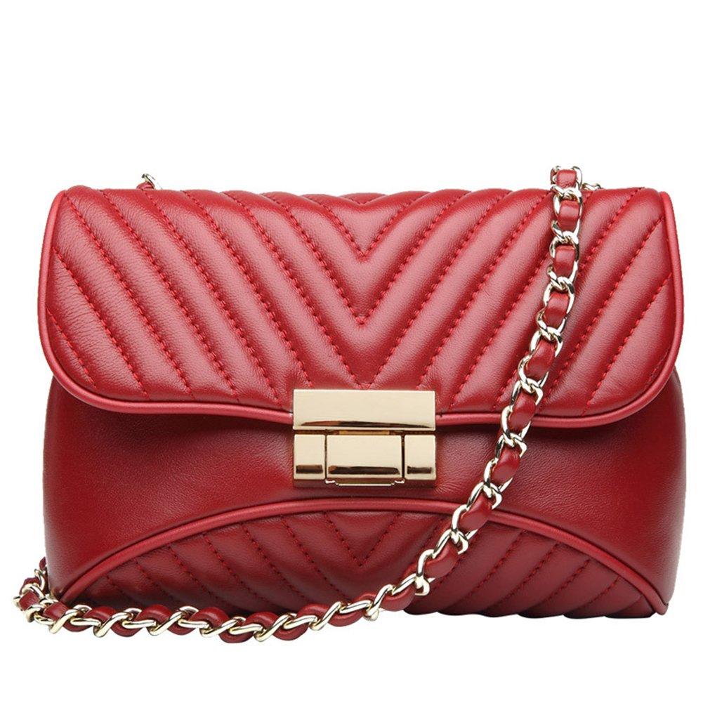 Sacs à main en cuir véritable pour les femmes embrayage de soirée en peau de vache petits sacs à bandoulière mignon téléphone sac QI WANG