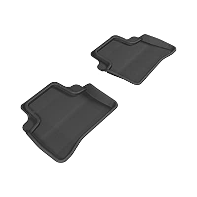 3D MAXpider Second Row Custom Fit All-Weather Floor Mat for Select Mercedes-Benz E-Class W212 Models - Kagu Rubber (Black)