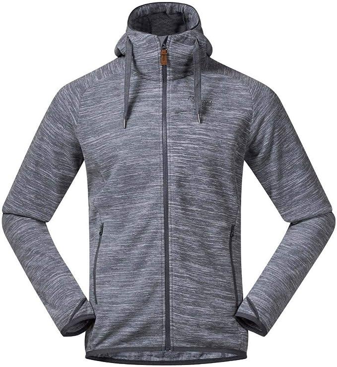 Bergans Hareid Fleece Jacket Men solid charcoal melange