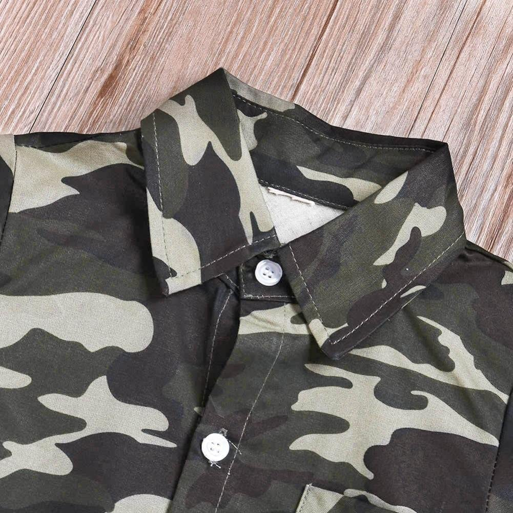 FORESTIME Toddler Baby Boys Cotton Long Sleeves Top Shirt Camouflage Blouse Clothing
