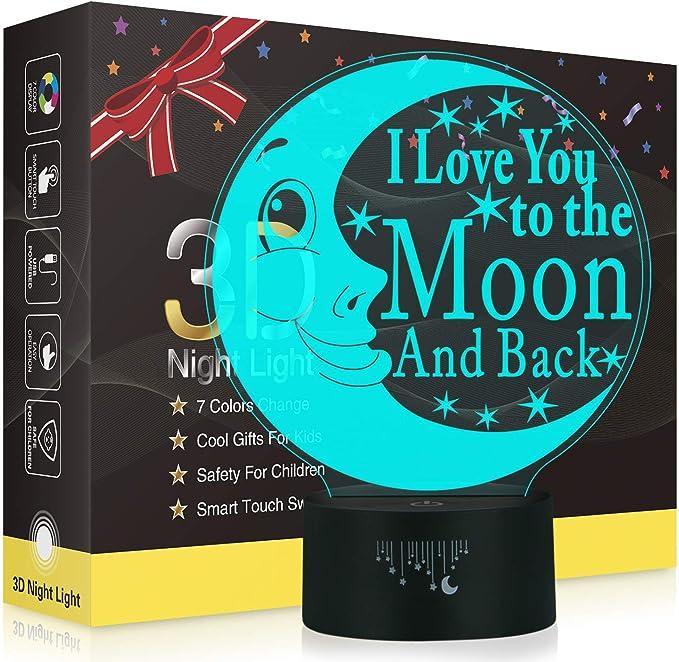 3D I LOVE U Night Light Laser-engraving Visual Lamp Remote Control Fantasy Light