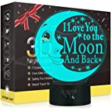 I Love You 3D LED Optical Illusion Lamps, Rquite 7 Color Change Touch Switch Art Sculpture Lights LED Desk Table Night Light