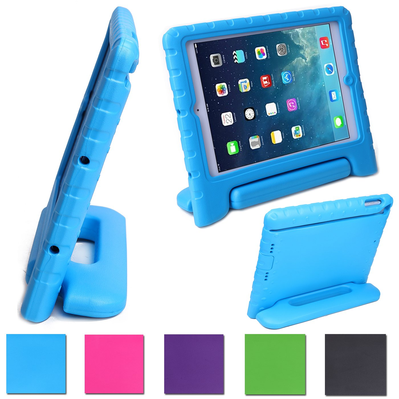 HDE Kids Light Weight Shock Proof Handle Case for iPad Mini / Mini 2 / Mini 3 / Retina