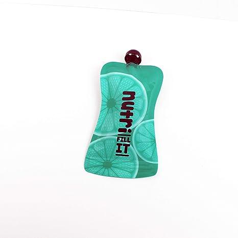 Nutri Fill-It wiederverwendbare Smoothie-Beutel, grün (2 Stück), große wiederverwendbare Beutel für Erwachsene und Kinder