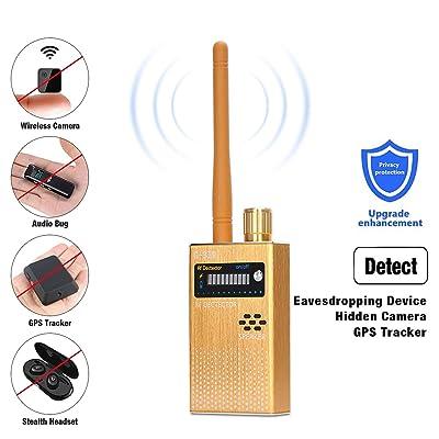 RF Signal Detector COVVY Wireless Anti Spy Bug Detector GPS Radar Radio Scanner GSM Signal Tracker Hidden Camera Eavesdropping Device Wireless Signal Alarm: Home Audio & Theater