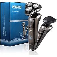 Afeitadora eléctrica, rotatoria de afeitar para hombre, RENPHO afeitadora eléctrica para hombre 2 en 1 resistente al agua sin cables para patillas y barba Trimmer recargable a prueba de agua IPX7
