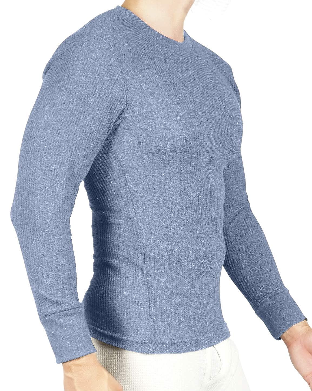 2 Pack Long Sleeve Undershirt Joe Boxer Mens Thermal Crew Neck Top