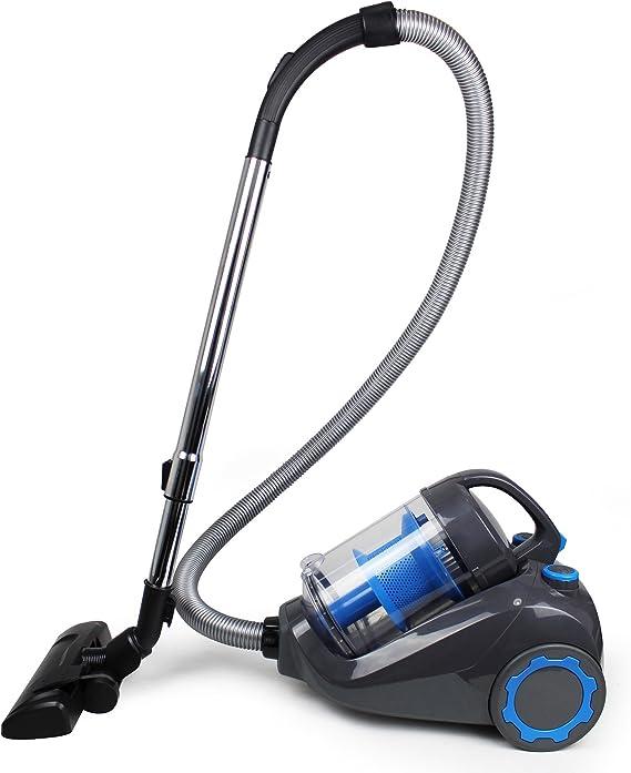 Leogreen - Aspiradora Ciclónica, Máquina De Vacío Sin Bolsa, Azul, Capacidad del contenedor de polvo: 2.5L, Superficie cubierta máxima: 70 m²: Amazon.es: Hogar