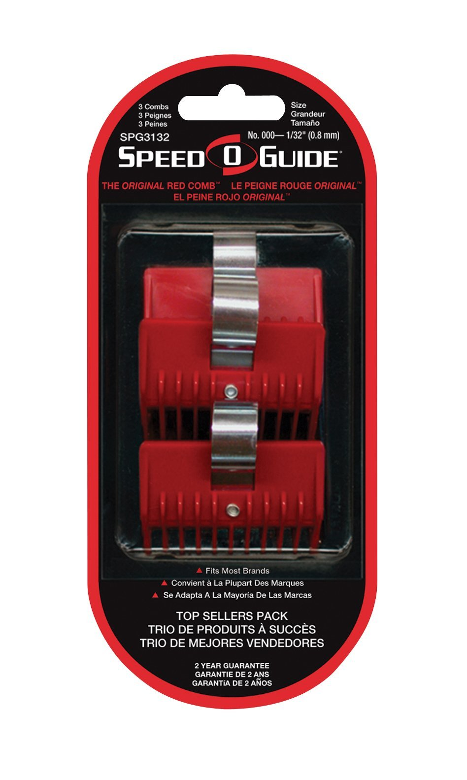 SPEED-O-GUIDE Universal Clipper Comb Attachments Size 000 1/32 inch 3 Pack 3132