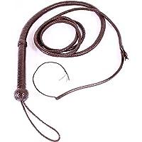 SR Real Leather Nuevo Latigo Marron Indiana Jones 300 cm de Largo Cuero Verdadero Latigo para Torros Hipica Rodeo