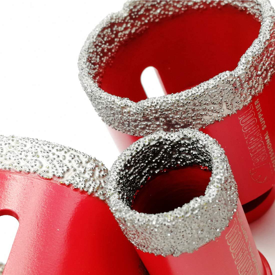 Durchmesser 6//8//25//35mm SHDIATOOL Trockene Diamant-bohrkronen Set Vakuumgel/ötete Bohrungen Porzellan Fliesen Granit Marmor
