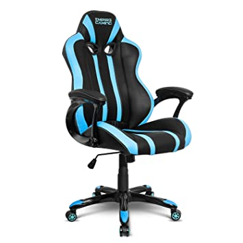 Empire Gaming - Sillón Gamer Racing 600 serie Azul - Asiento deportivo - Reposabrazos ultracómodos y mullidos