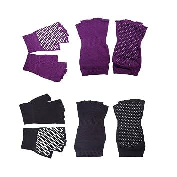 DoGeek-Calcetines Yoga Mujer/Homre Antideslizantes de Guantes Yoga de Guantes con Puntos de