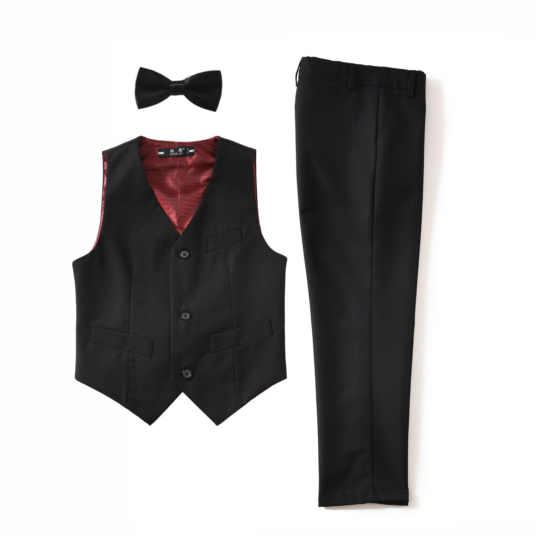 YuanLu 3 Piece Kids Boys Formal Blazer Vest and Pants Dress Suits Set for Party