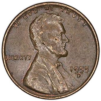 1955 D Lincoln Wheat BIE Error Penny Good at Amazon's