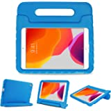 """ProCase Kids Case for iPad 10.2 2019/ iPad Pro 10.5/ iPad Air 3, Shockproof Convertible Handle Stand Cover Light Weight Kids Friendly Super Protective Case for Apple iPad 10.2"""" 7th Generation -Blue"""