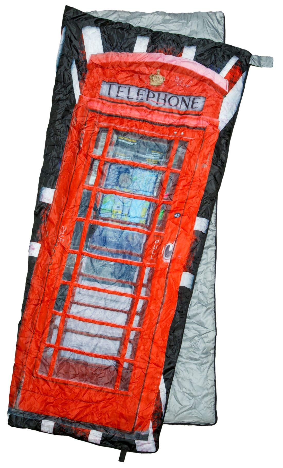 REVALCAMP Lightweight Sleeping Bag - Phonebooth - Indoor & Outdoor use. Great for Kids, Teens & Adults. Ultra Light and Compact Bags are Perfect for Hiking, Backpacking, Camping & Travel.