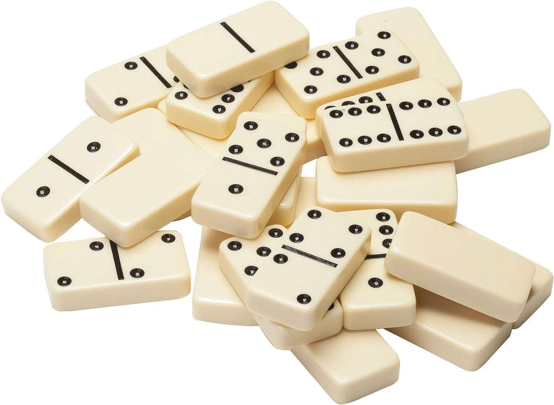 Ivory Dominoes Fun Dominoes Leisure Board Game Teaching aids Simple Plastic Box