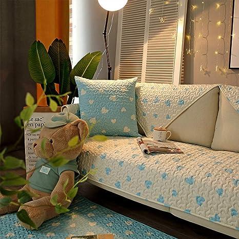 LIUWAN Cojín de sofá de algodón Simple Tejido Cuatro ...
