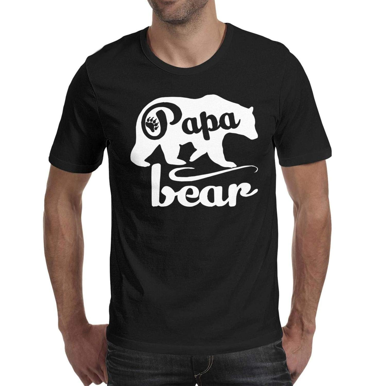 Zljun S Father S Day Papa Bear Novelty Casual Ts Shirts
