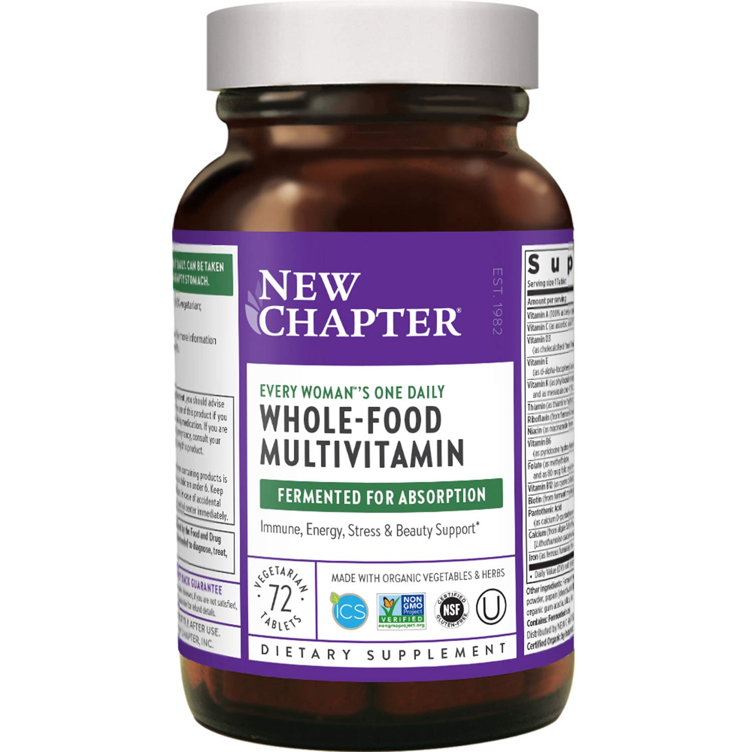 New Chapter Women's Multivitamin + Immune Support – Every Woman's One Daily with Fermented Nutrients - 72 ct