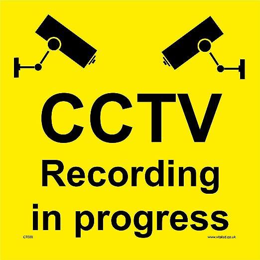 Señales de seguridad CCTV CT020 CCTV grabación en progreso ...