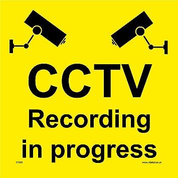 CCTV CT020 - Señales de seguridad para CCTV (400 x 400 mm ...