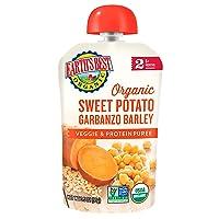 Earth's Best Organic Stage 2 Baby Food, Sweet Potato Garbanzo and Barley, 3.5 oz...