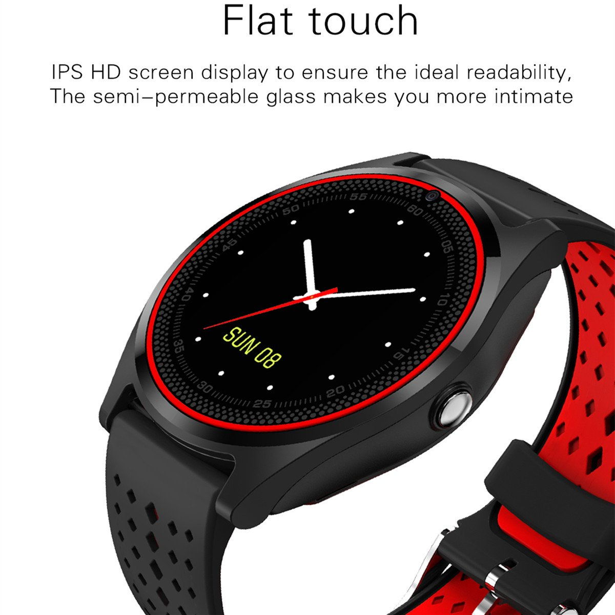 Amazon.com: V9 Smart Watch Men Women with Camera Bluetooth Smartwatch Support Sim Card Wristwatch fo Android Watch Phone (Blue): Cell Phones & Accessories