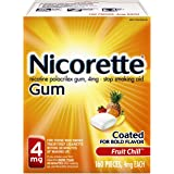 Nicorette Nicotine Gum Fruit Chill 4 milligram Stop Smoking Aid 160 count