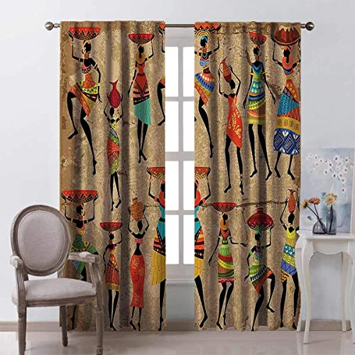 Reviewed: Toopeek Afro African American History Art Decor Blackout Curtain Afrocentric Artwork Women