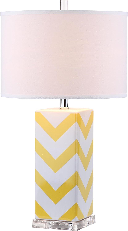 Safavieh Lighting Collection Chevron Stripe Purple 27-inch Table Lamp (Set of 2) Yellow
