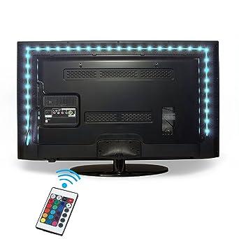 Kohree –Tira de LEDs USB 2 M 5V RGB Multicolor Cinta ...
