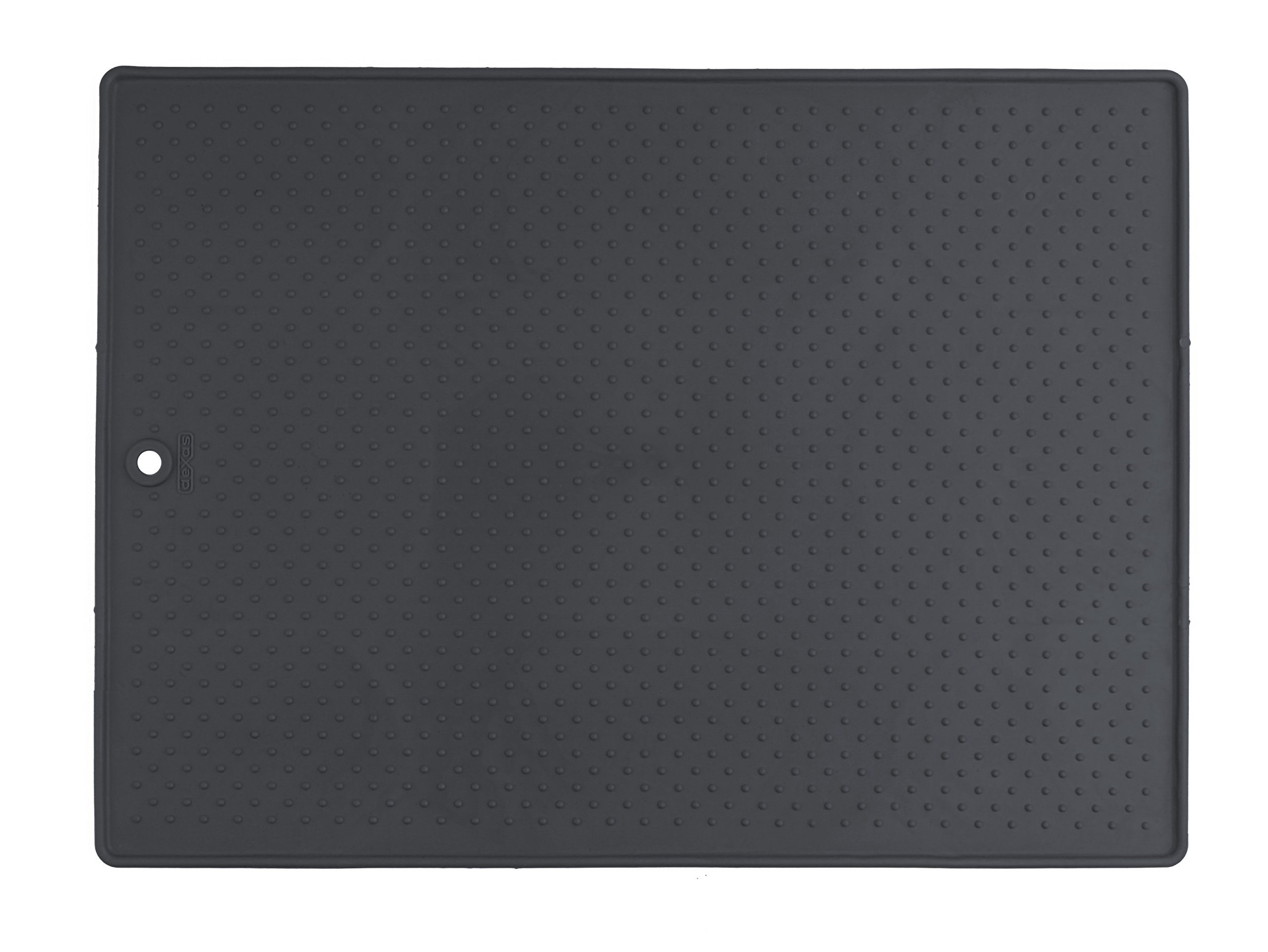 Dexas  Grippmat for Pet Bowls, 17 by 23.5 inches, Gray