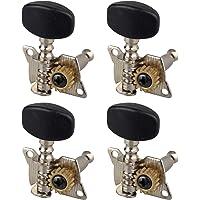 Futheda 4 Stks Premium Ukulele Tuners String Tuning Pegs Keys Zwart Ingesloten Tuners Machine Hoofden met schroeven Set…