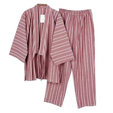 Amazon.com: Para hombre estilo japonés bata pijama Kimono ...