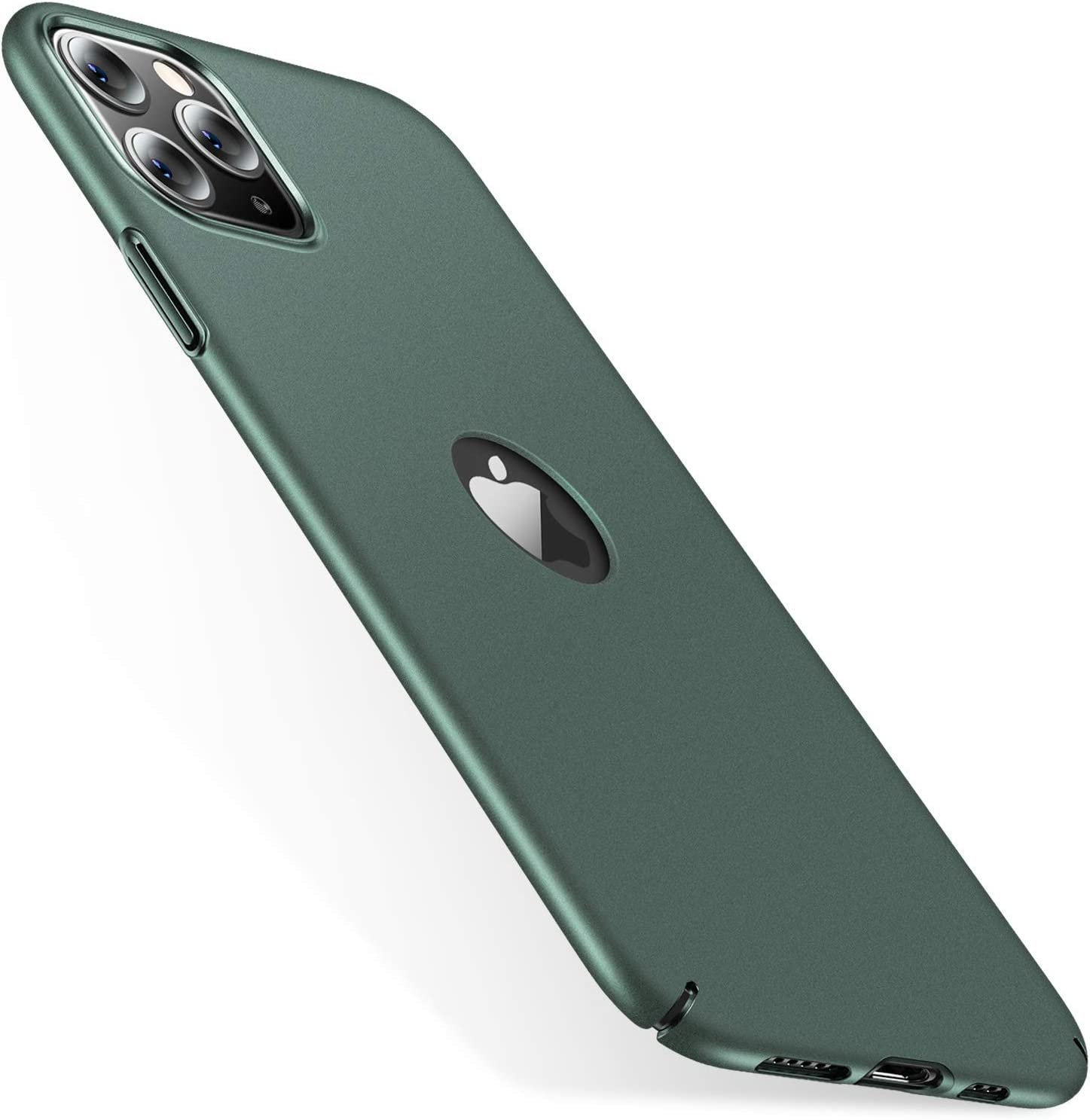 CASEKOO Slim Fit Compatible with iPhone 11 Pro Max Case, [Logo Visible] Ultra Thin Hard Plastic Phone Cases with Matte Finish, Anti-Fingerprint Cover for iPhone 11 Pro Max 6.5-inch 2019 Midnight Green