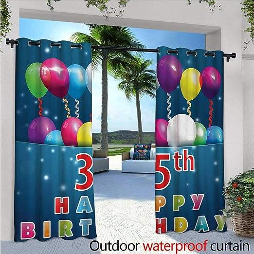 BlountDecor Cortinas de jardín de 35 cumpleaños, diseño ...