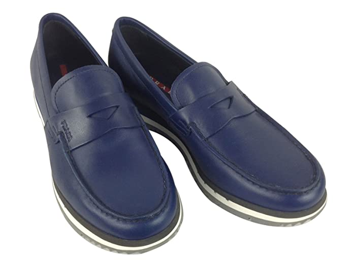 Prada - Mocasines para hombre, color, talla 8 UK: Amazon.es: Zapatos y complementos