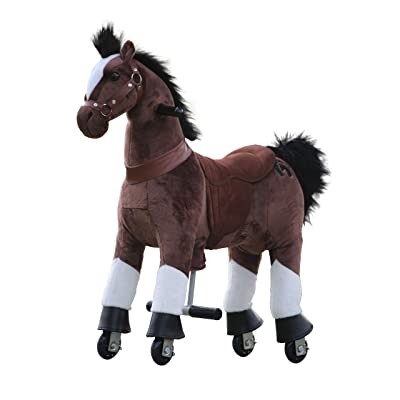 Medallion - My Pony Ride On Real Walking Horse for Children 3 to 6 Years Old or Up to 65 Pounds (Color Small Chocolate Horse) for Boy and Girl Newest Model Play Horse Toy of The Year 2020: Toys & Games